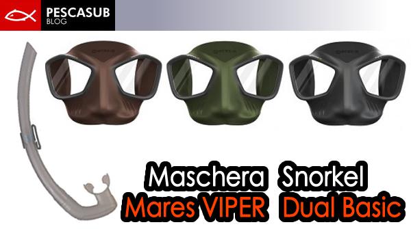 maschera mares viper + snorkel dual basic trasparente
