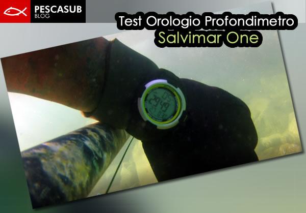 test orologio profondimetro salvimar one
